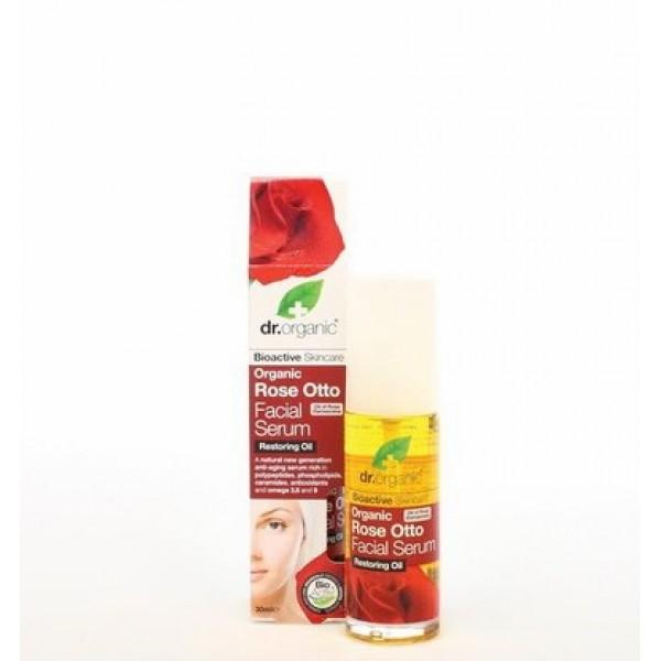 Dr. Organic arcszérum bio damaszkuszi rózsával, 30 ml