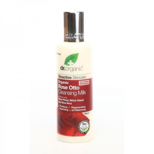 Dr. Organic arctisztító tej bio damaszkuszi rózsával, 150 ml