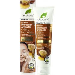 Dr Organic Argán olaj krémes arclemosó, 150 ml