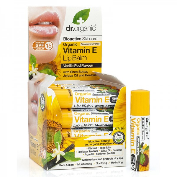Dr. Organic Bio E-Vitaminos ajakbalzsam