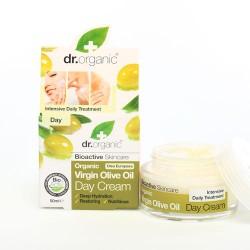 Dr. Organic Bio Oliva nappali arckrém, 50 ml