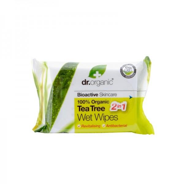 Dr. Organic Bio Teafa nedves törlőkendő