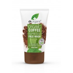 Dr Organic élénkítő arclemosó bio kávéval, 125 ml