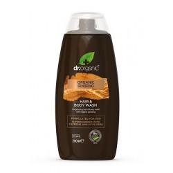 Dr Organic Ginzeng Men  2 az 1-ben sampon és tusfürdő, 250 ml