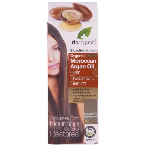 Dr. Organic hajápoló szérum marokkói bio argán olajjal, 100 ml