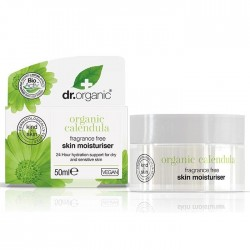 Dr Organic Illatmentes hidratáló krém bio körömvirággal, 50 ml