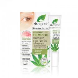 Dr Organic intenzív szemszérum bioaktív kendermagolajjal, 15 ml