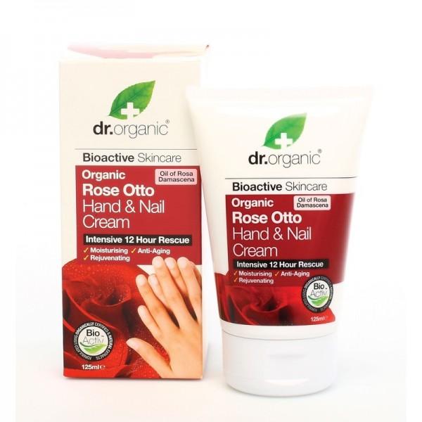 Dr. Organic kéz- és körömápoló krém bio damaszkuszi rózsával, 125 ml