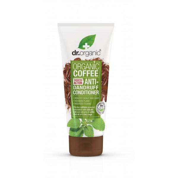 Dr Organic korpásodás elleni hajkondicionáló bio kávéval, 200 ml