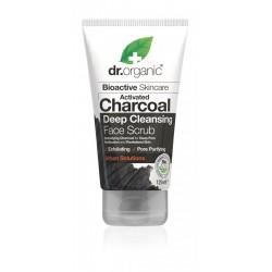 Dr Organic mélytiszító arcradír aktív szénnel, 125 ml
