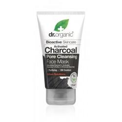 Dr Organic pórustisztító arcpakolás aktív szénnel, 125 ml