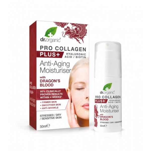 Dr Organic Pro Collagen Anti-Aging hidratáló arckrém sárkányvérfa kivonattal, 50 ml