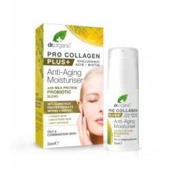 Dr Organic Pro Collagen Anti-Aging hidratáló arckrém tejprotein probiotikummal, 50 ml