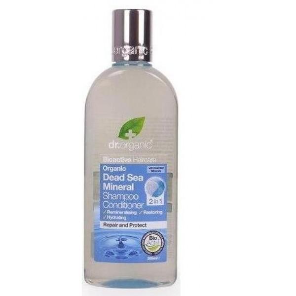 Dr. Organic sampon és hajkondicionáló 2 az 1-ben természetes Holt-tengeri ásványokkal, 265 ml