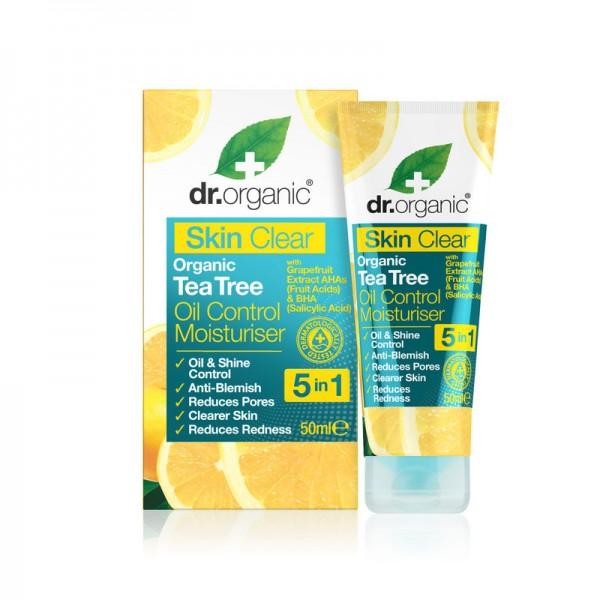 Dr Organic Skin Clear mattító hidratáló arckrém 5 az 1-ben, 50 ml