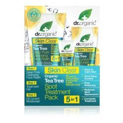 Dr Organic Skin Clear pattanáskezelő szett 5 az 1-ben, 125+10+50 ml