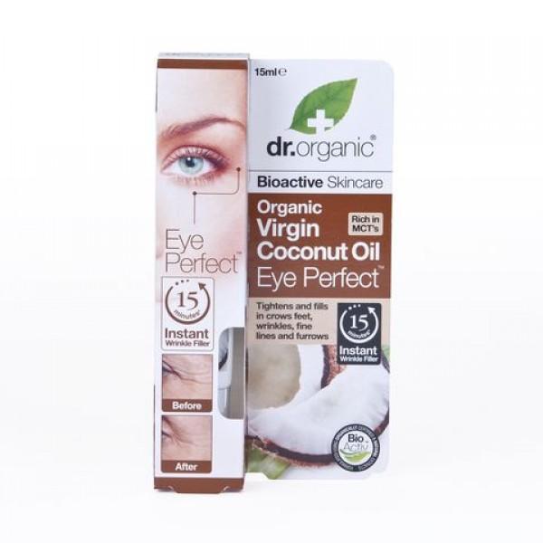 Dr. Organic szemkörnyék feszesítő szérum bio szűz kókuszolajjal