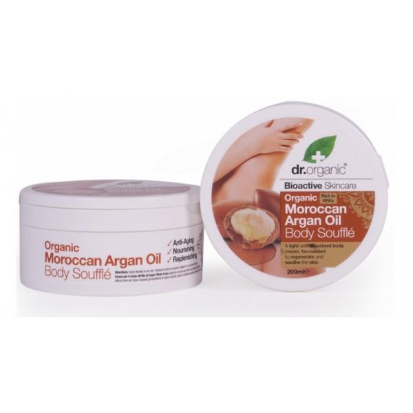 Dr. Organic testápoló szuflé marokkói bio argán olajjal