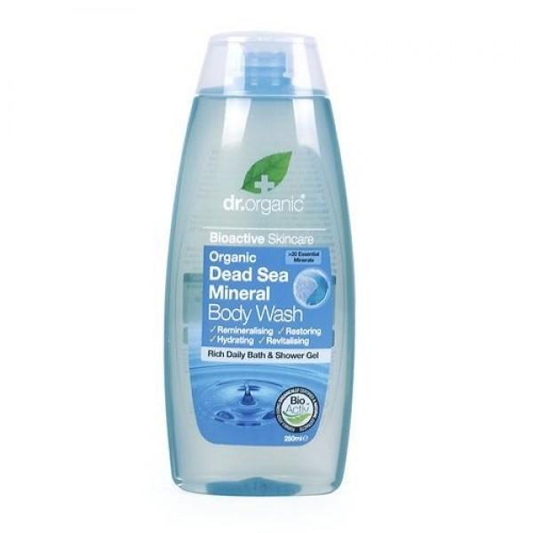 Dr. Organic tusfürdő természetes Holt-tengeri ásványokkal, 250 ml