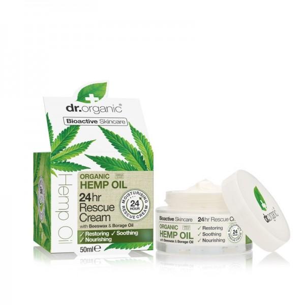 Dr Organic 24 órás elsősegély krém bioaktív kendermagolajjal, 50 ml