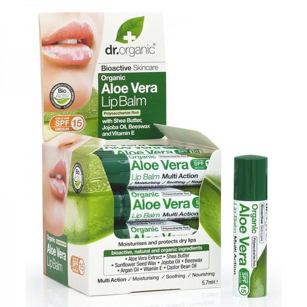 Dr. Organic Bio Aloe Vera ajakbalzsam