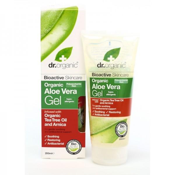 Dr. Organic Bio Aloe Vera gél teafa olajjal és árnikával