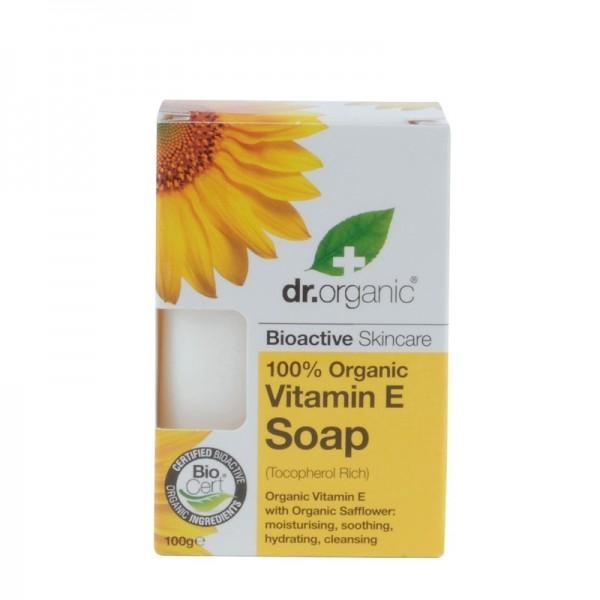 Dr. Organic Bio E-Vitaminos szappan, 100 g