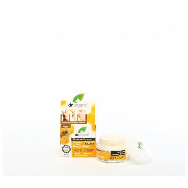 Dr. Organic Bio Méhpempő feszesítő, hidratáló, sejtregeneráló éjszakai krém, 50 ml