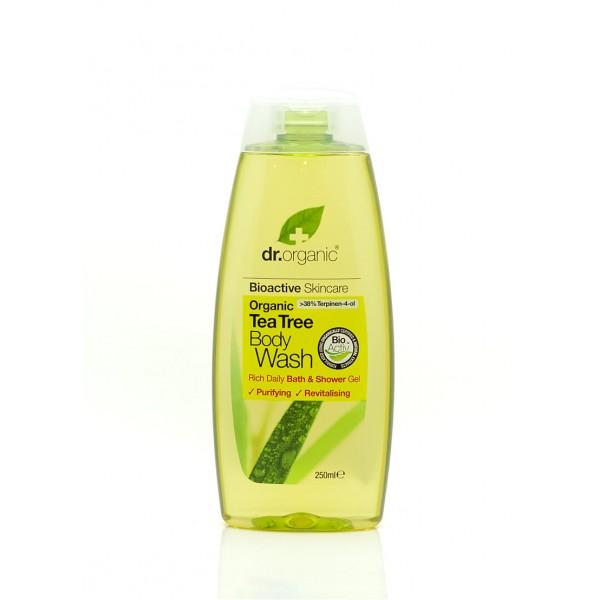 Dr. Organic Bio Teafa tusfürdő, 250 ml