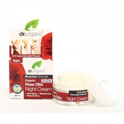 Dr. Organic éjszakai arckrém bio damaszkuszi rózsával, 50 ml
