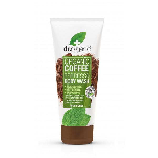 Dr Organic élénkítő tusfürdő bio kávéval, 200 ml