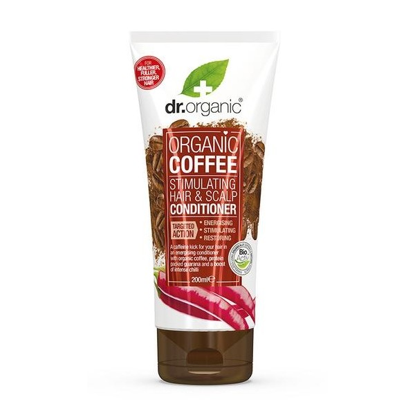 Dr Organic haj- és fejbőrstimuláló kondicionáló bio kávéval, 200 ml