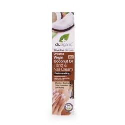 Dr Organic hidratáló kéz-és körömápoló krém bio szűz kókuszolajjal, 100 ml