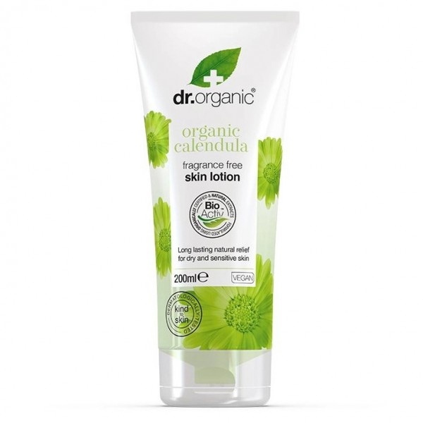 Dr Organic Illatmentes testápoló bio körömvirággal, 200 ml