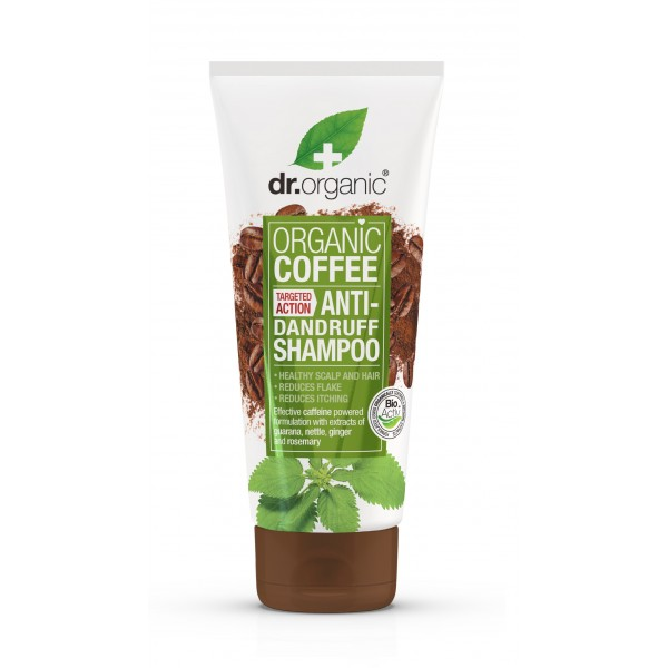Dr Organic korpásodás elleni sampon bio kávéval, 200 ml