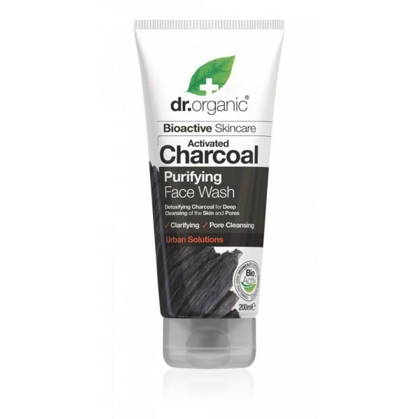 Dr Organic mélytisztító arclemosó aktív szénnel, 200 ml