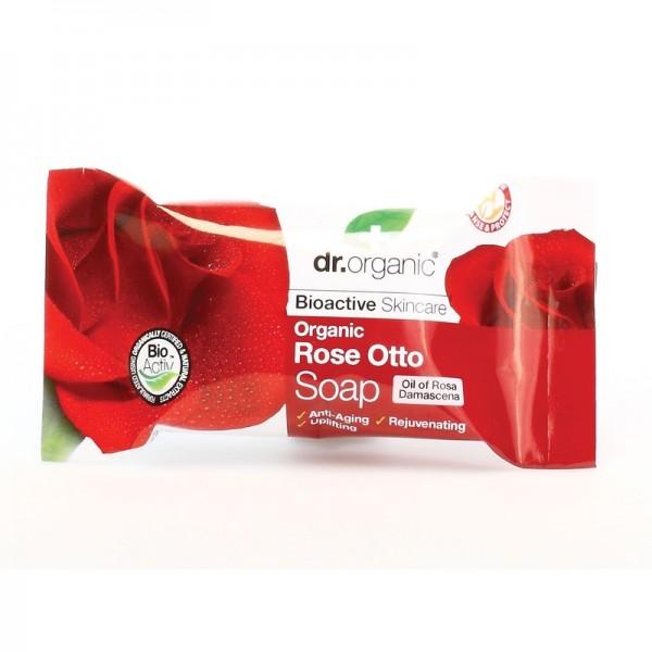 Dr. Organic szappan bio damaszkuszi rózsával, 100 g