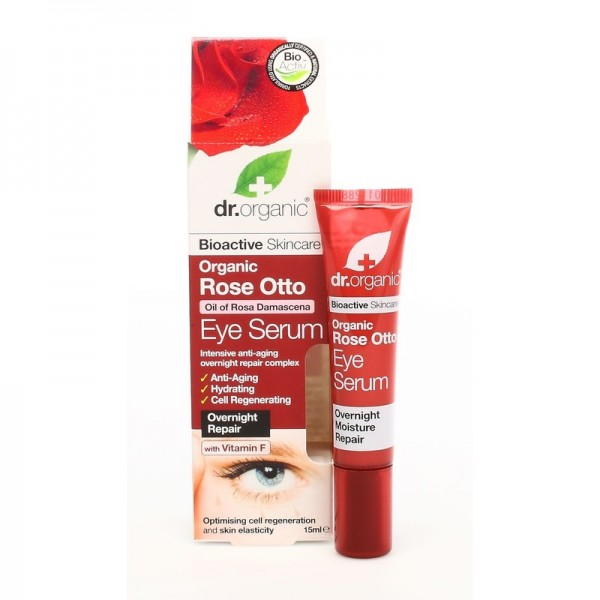 Dr. Organic szemkörnyék ápoló szérum bio damaszkuszi rózsával, 15 ml