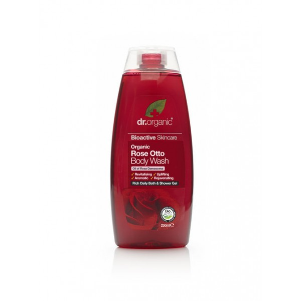 Dr. Organic tusfürdő bio damaszkuszi rózsával, 250 ml