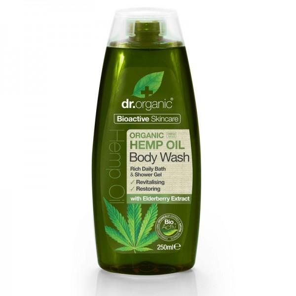 Dr Organic tusfürdő bioaktív kendermagolajjal, 250 ml